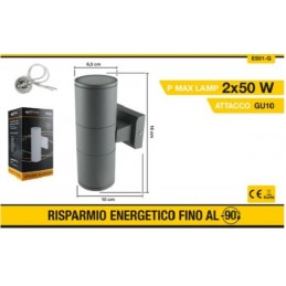 Applique da parete up&down 3W per esterno luce calda 3000k ES48 APPLIQUE LED  LT2322 7,56 €