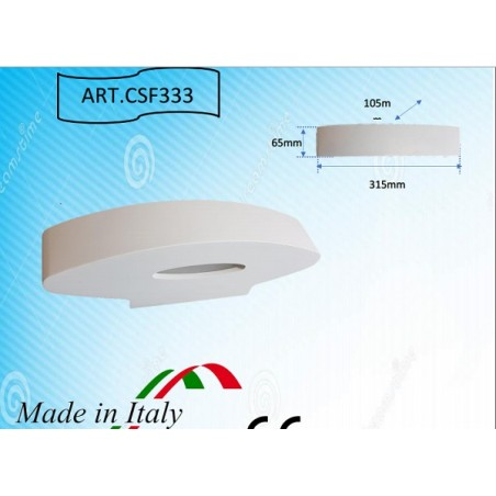 APPLIQUE IN GESSO DA INCASSO LED SAMSUNG led già integrato VLCG130
