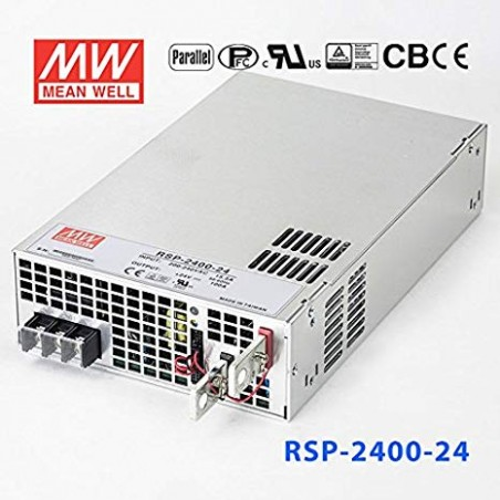Alimentatore a commutazione 2400W 24V 100A ACTIVE PFC FUNCTIONMEAN WELL RSP-2400-24